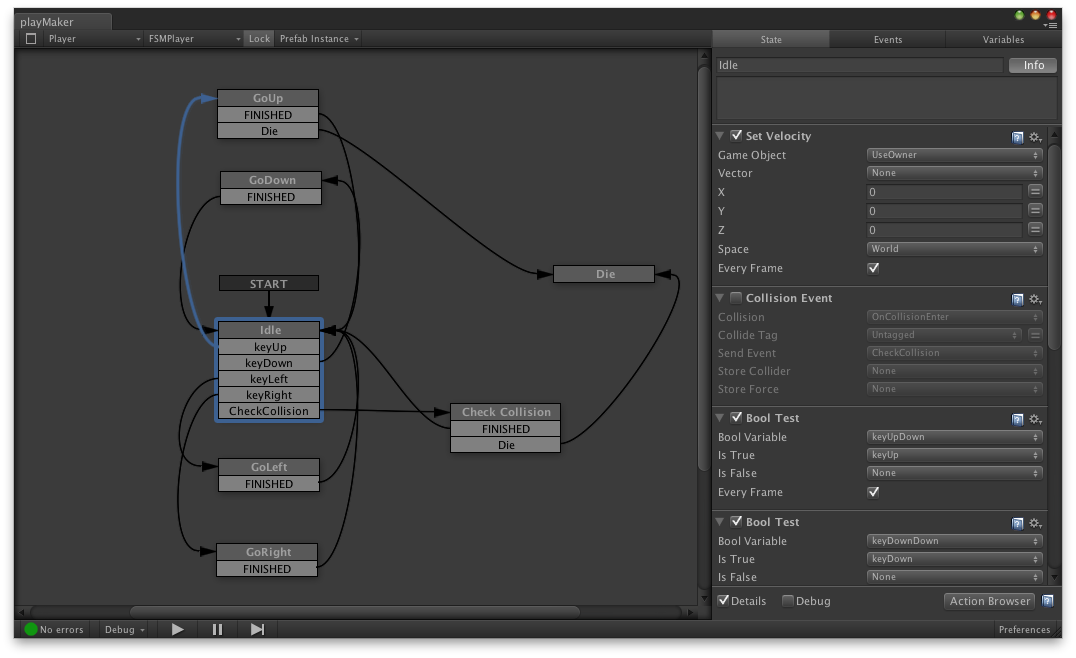 finite state machine editor